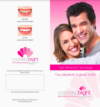 Cosmetic Bright Pro System Client Brochures x50