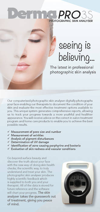 25 x DermaPRO 3S Double sided DL flyers