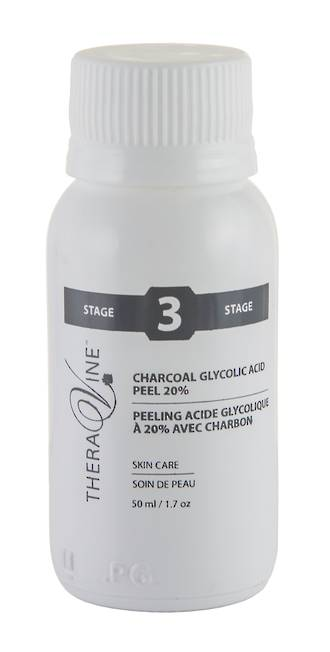 Theravine Professional Charcoal Glycolic Acid Peel 20% 50ml