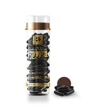 Brow Code Henna Capsules Dark Brown 125mg x 50