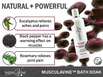 Theravine RETAIL Musculavine Bath Soak 400ml