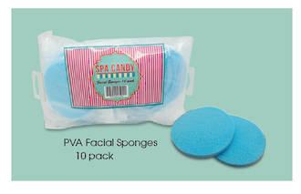 Spa Candy - PVA FACIAL SPONGES 10PK