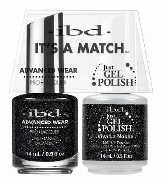 IBD Duo Polish - Viva La Noche (glitter)