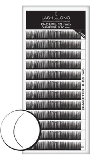 LASH beLONG- C-CURL LASHES Variety Tray 15mm