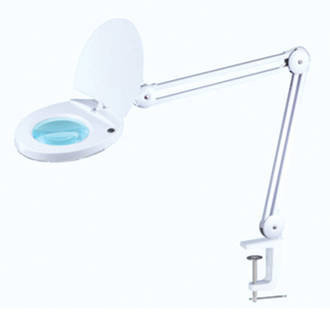 LED Magnifying Lamp On Clamp
