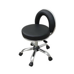 Pedicure Operator Stool - Black