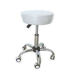 Beautician Stool white (Bigger Seat)