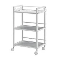 3-Tier Trolley with white painted frame