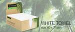 Bio Towel White 40cmx70cm Pack 50