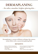 Dermaplaning Poster A1