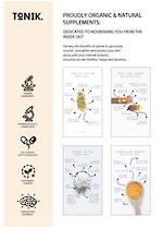 TONIK  Benefits - Proudly Organic & natural Supplements - A4 POSTER