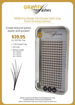 Gravity Lashes - Lash C Curl 0.07 Pre Made Volume Cluster