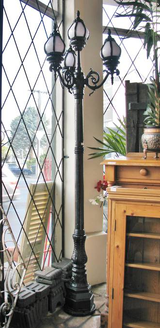 Cast Iron English Style Garden Lamp Post or Street Lamp SOLD