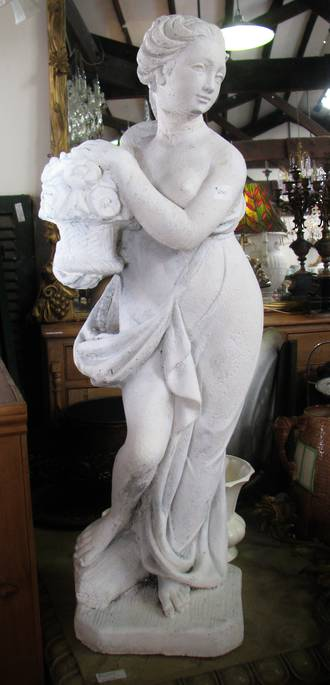Concrete Statue Of Young Lady SOLD