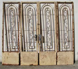 Wrought Iron Art Deco Gates Bi folding $3950 set of 4 pcs