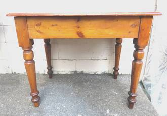 Small Antique Baltic Pine Table $795