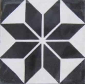 New Black and White Star Tile $7.00 each $175.00 per sq m