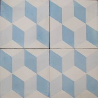 New Blue Tumbling Square Tile; Seconds only $5.00 each