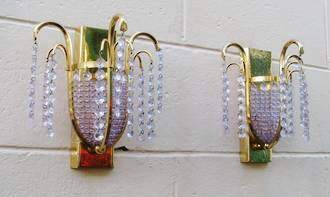 Lilac & Gold Wall Lights