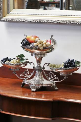 Large Art Nouveau Silver Plate Centerpiece or Table Platter SOLD