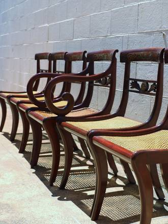 Regency chairs - Set of 6 Including Carver $3250.00