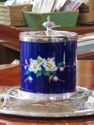 Exquisite Biscuit Barrel Sheffield SOLD