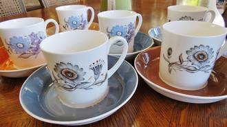 Susie Cooper Coffee Set, 1950's