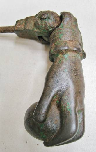 Cast Iron Hand of Fatima Door Knocker Large