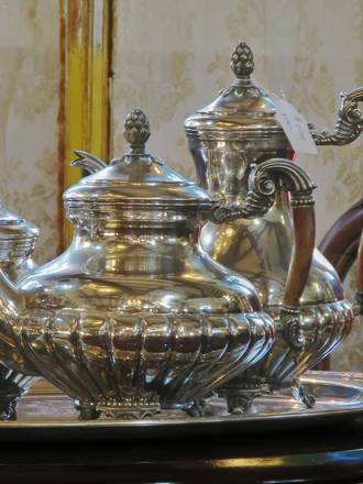 Elaborate Spanish EP Silver Coffee & Tea Service of Generous Proportions