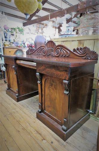 Large William 4th Mahogany Credenza $3750