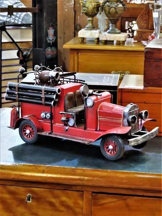 Vintage Hand Built Fire Truck Model  SOLD