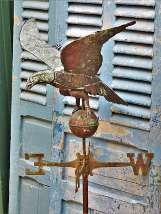 Hand Wrought copper & Zinc Weather Vane SOLD