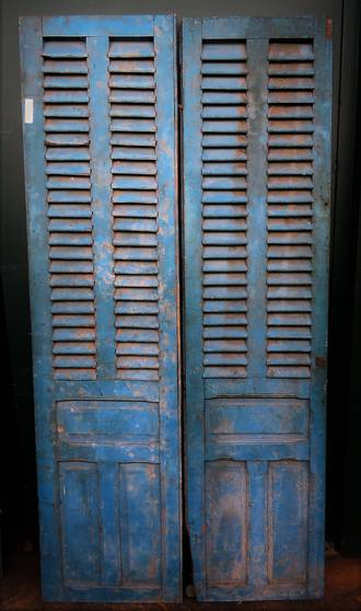 Antique French Shutter Doors $1350.00 pr Aqua