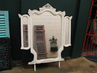 French Carved Fold Out Mirror $950.00