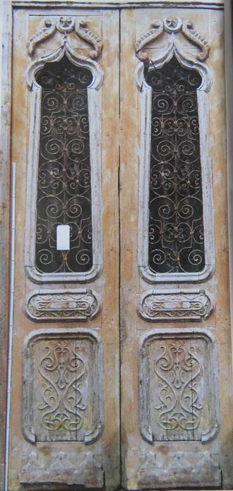 Large Antique Door with Wrought Iron Grille $5000.00 pair