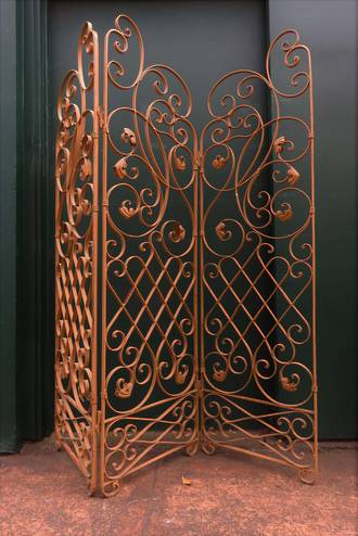 French Wrought Iron Garden Screen SOLD