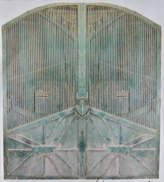 Pair of Tall Green Gates SOLD