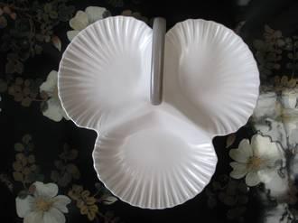 Retro Poole Scallop Shell Platter