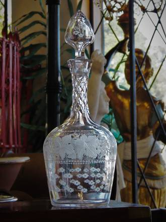 Early Engraved & Cut Crystal Decanter Sold Similar one in stock