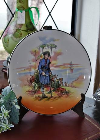 Royal Doulton Treasure Island Charger - Long John Silver - Mid Century