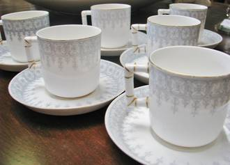 Royal Worcester Set, A J White Department Store Duo's, Historical New Zealand
