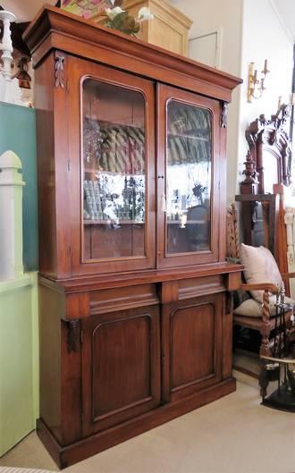 Antique Chiffonier Glazed Bookcase $3950