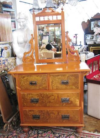 New Zealand Kauri & Totara Dresser with Mirror $2100