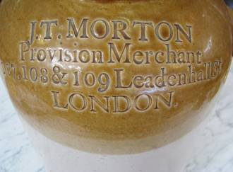 Antique Stoneware Jar J.T. Morton