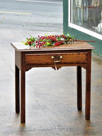 Queen Anne English Oak Desk or Hall Table $1450.00