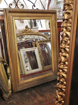 Victorian gilt Framed Mirror - beveled edged