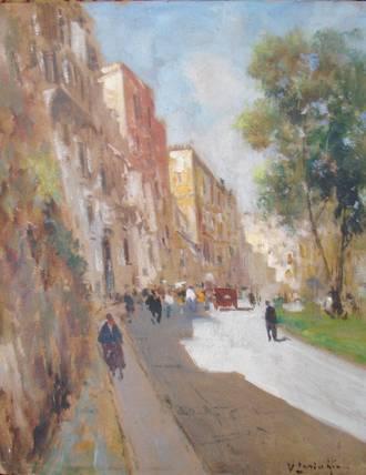 Original Vintage Italian Oil Painting on Canvas