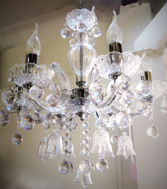 High Purity Crystal Small Bell Chandelier $1950 One left only!!