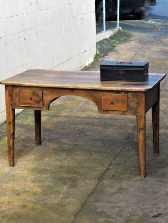 Early Spanish Provincial Pine Desk SOLD