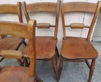 Set of 4 Antique Oxford Chairs, Unique style $1060.00 set
